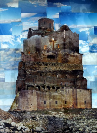 Frühbyzantinische Bauten II (2013) / 28cmx34cm / Photo Collage